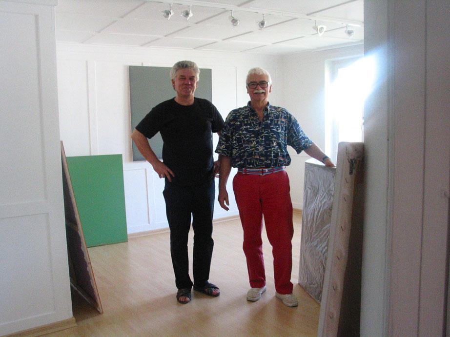 Der Sammler Nino Weinstock (r.) und Armin Simon