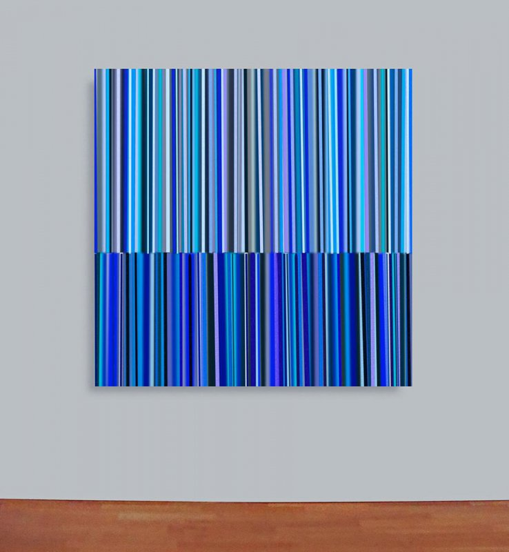 digital art - a game with blue stripes, 2015