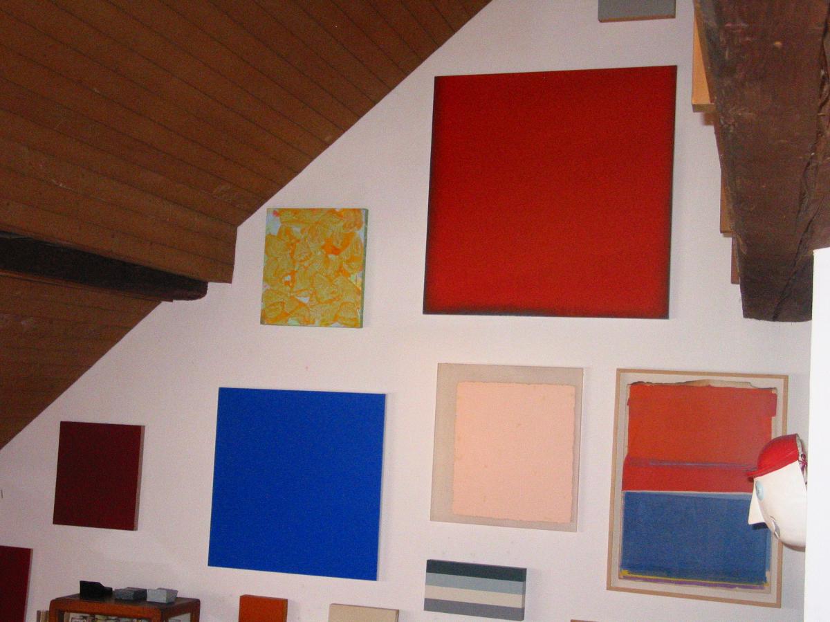 rotes bild in der sammlung weinstock / jetzt im kunsthaus aarau, aargau