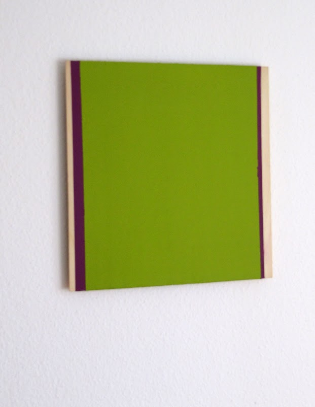 violett – grün, 2011 / pigments on wood private property appenzell