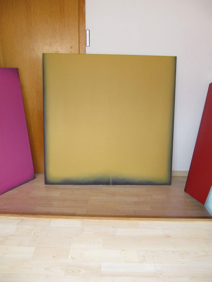 gelb – schwarz, 2009 / pigmente auf baumwolle