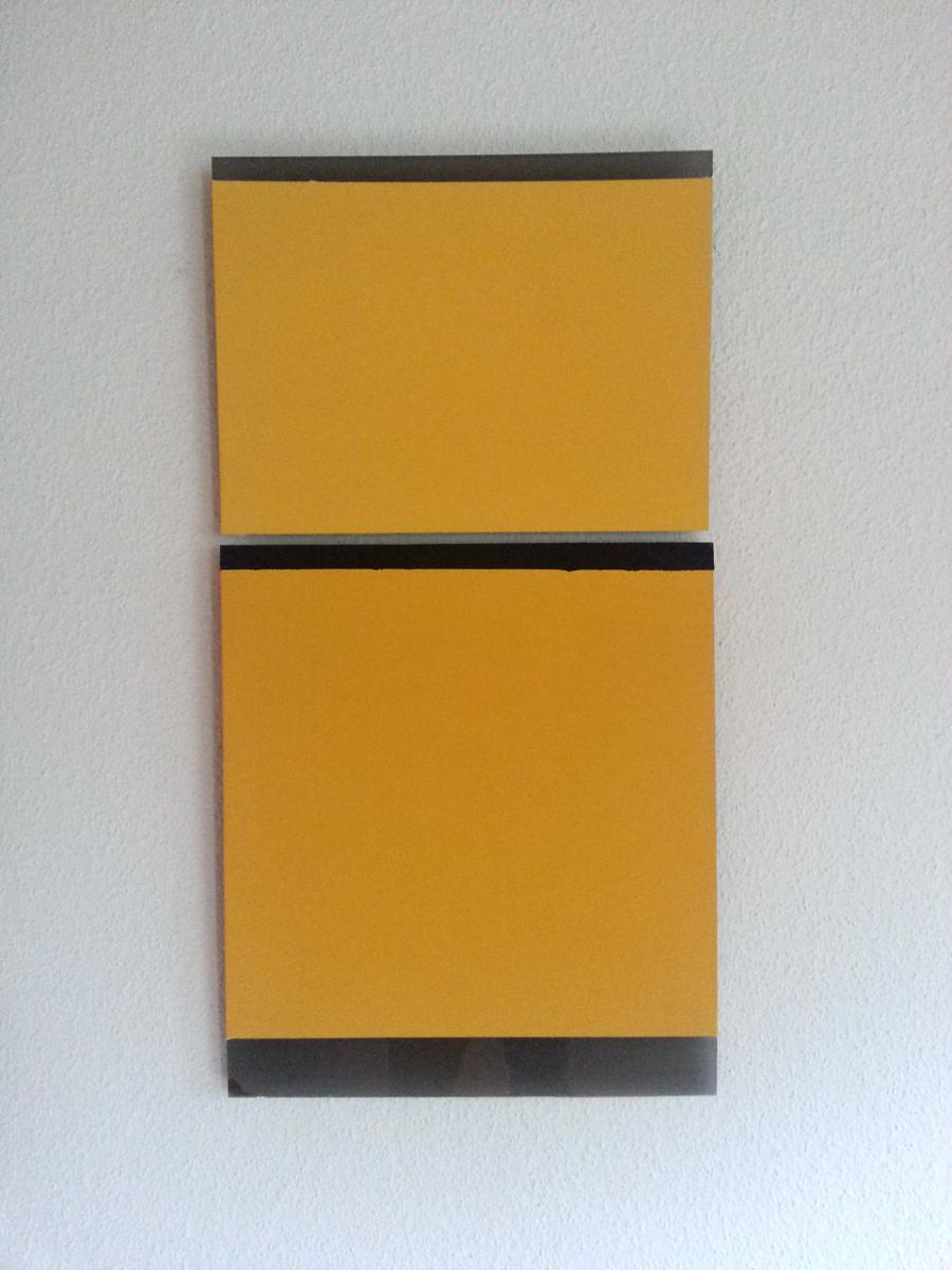 yellow – black, 2011 / pigments on black plexi