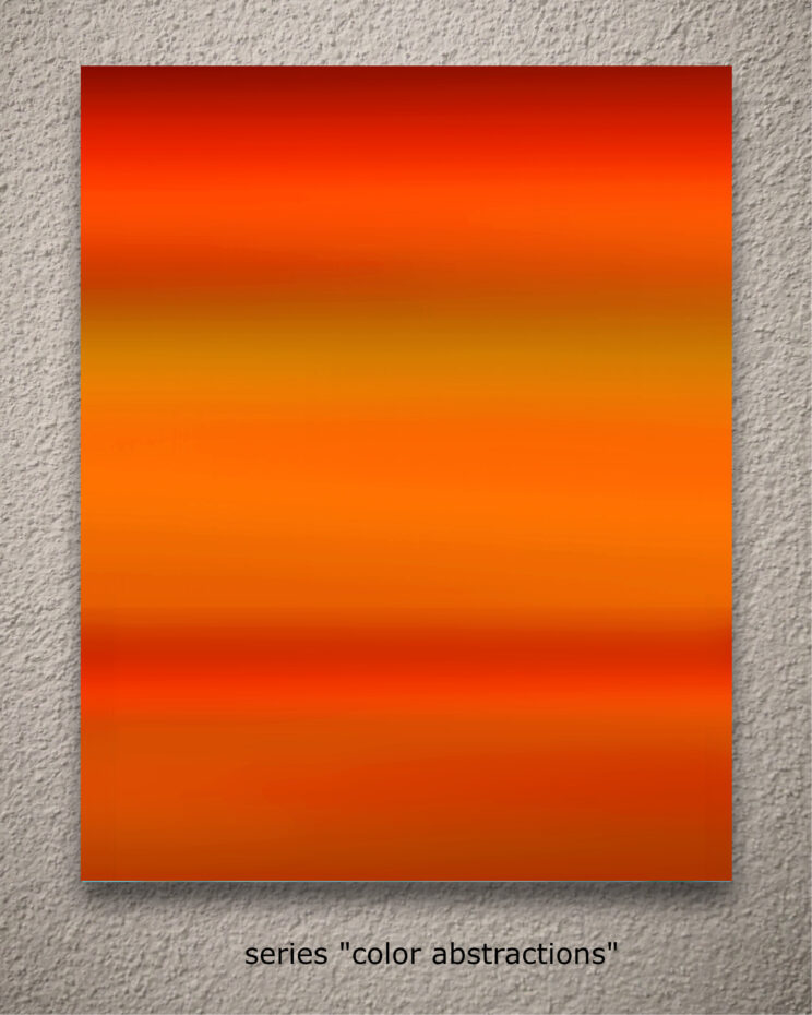 """aus der serie """"color abstractions"""""""