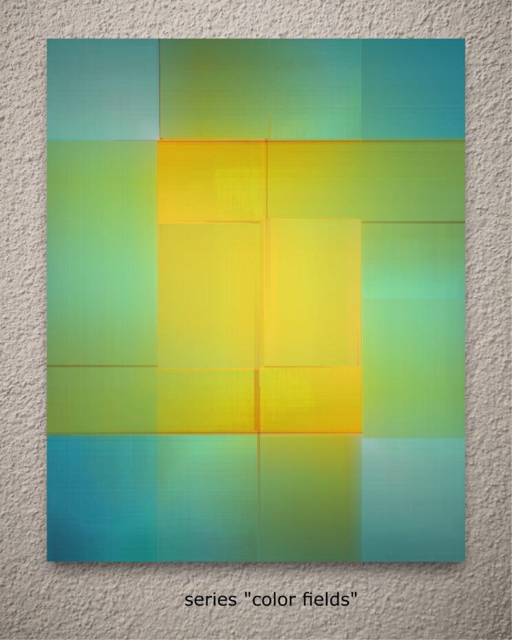 "aus der serie ""color fields"""