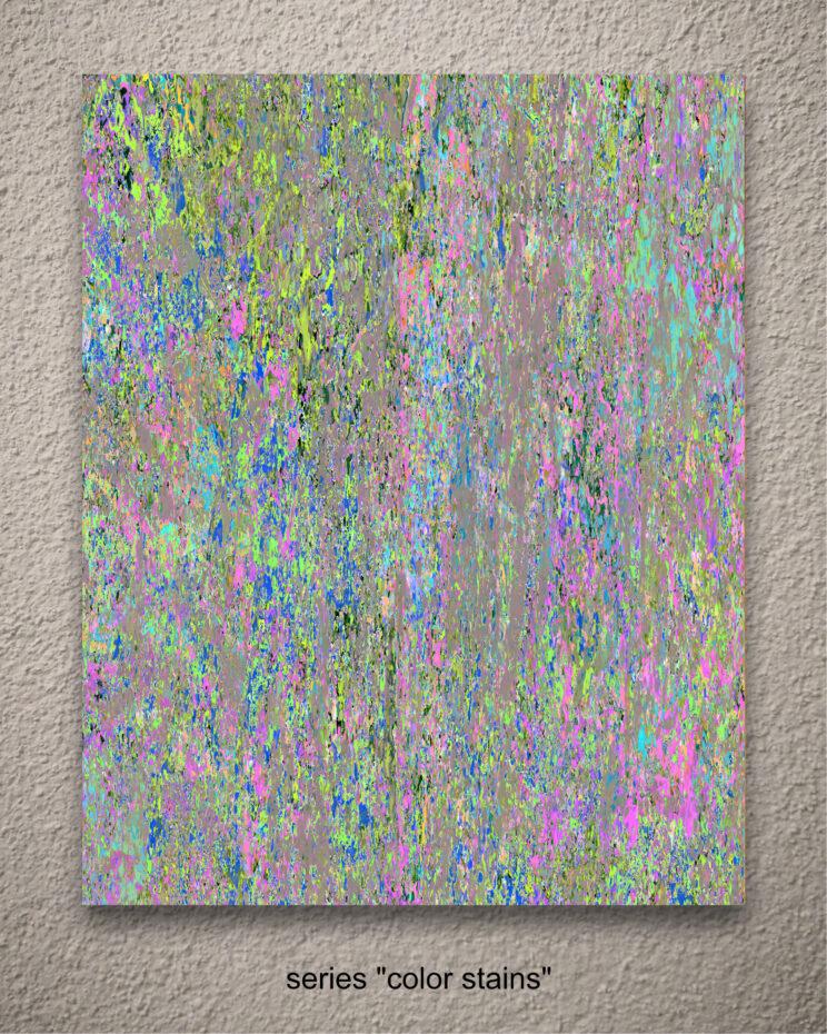 """aus der serie """"color stains"""""""