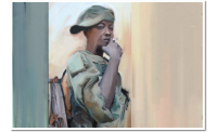 "child soldier I, (from series ""child soldiers"", 2014 / digital painting"