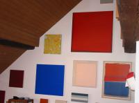rotes bild in der sammlung weinstock / das bild ist jetzt im kunsthaus aarau, aargau