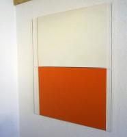weiss /orange, 2011 /pigments on plexi